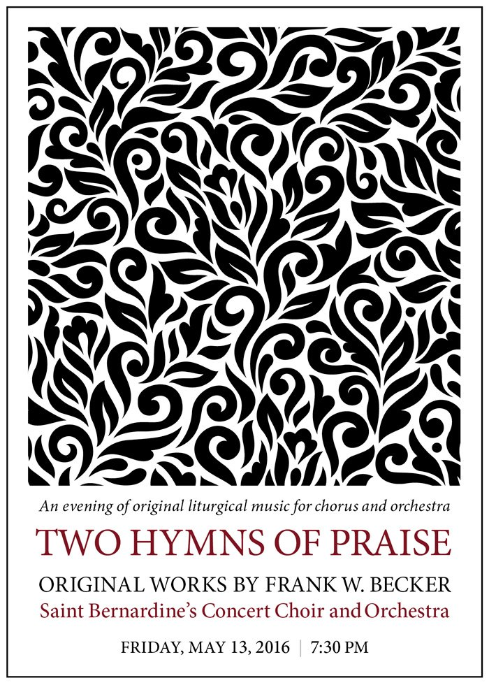 Frank W. Becker Two Hymns of Praise composer Pope Francis music liturgical concert